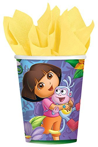 (Amscan Quirky Dora's Flower Adventure Party Paper Cups (8 Piece), Multi )