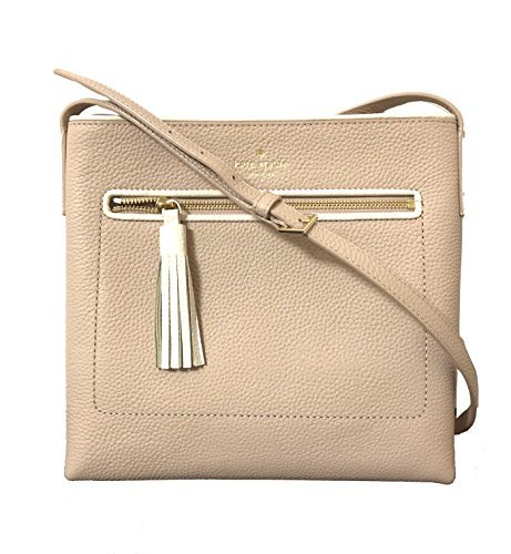 Spade Kate Inch 10 (Kate Spade New York Chester Street Dessi Pebbled Leather Shoulder/Crossbody Bag (Rose cloud/Cement))
