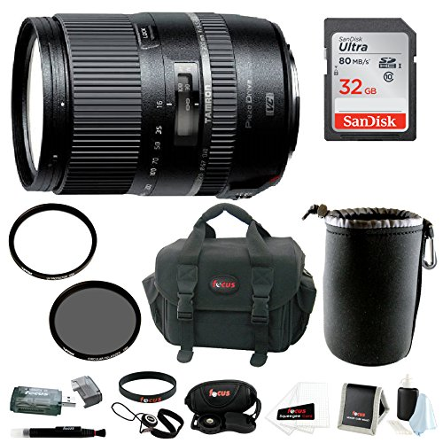 Tamron 16-300mm Macro Lens with Hood for Canon and...