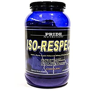 #1 Whey Protein Isolate Shake- Iso-Respect Protein Chocolate 30 servings– Best Whey Protein Powder for Women & Men – No Lactose - Mixes With a Spoon- High Quality Protein Shake