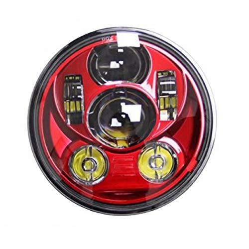 SKTYANTS Red 5-3/4 5.75' inch Motorcycle Projector LED headlight For Harley Davidson Street 500 XG750 Sportster 1200 Iron 883 guangdongshunkundianzikejiyouxianggongsi