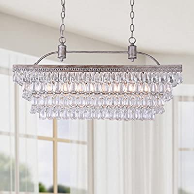 Jojospring Antique 6-light Rectangular Droplets Chandelier