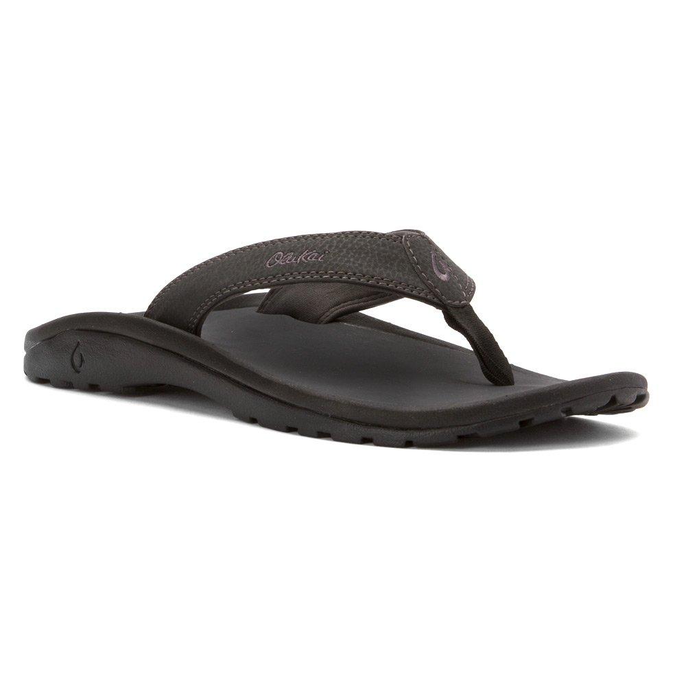 Olukai Ohana 10110 - Sandalias para hombre, color gris y negro 14 D(M) US|Negro (Black/Dark Shadow)