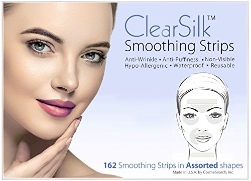 ClearSilk Smoothing Strips (Assorted 162 Ct) Facial Wrinkle Repair and Prevention Clear Silk Anti-Wrinkle Patches