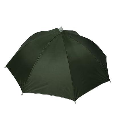 Amazon.com   uxcell Black Elastic Headband Dark Green Polyester ... b91fee3b863