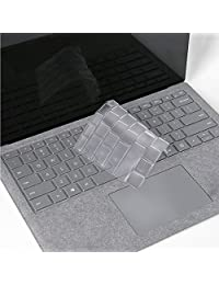 """ProElife Ultra Thin Clear Silicone Keyboard Protector Cover Skin for New Microsoft Surface Laptop 2017/Surface Book 2 13.5"""" 15""""/Surface Book with Performance Base 13.5"""" (Semi-transparent)"""