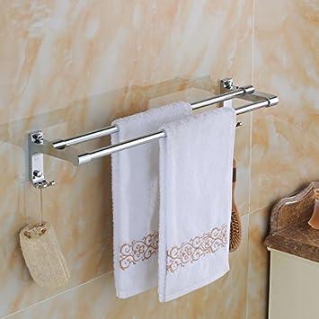 Acero inoxidable de toallas, toallas, ganchos, 2 palancas, toalla, salud baño colgador de baño: Amazon.es: Hogar