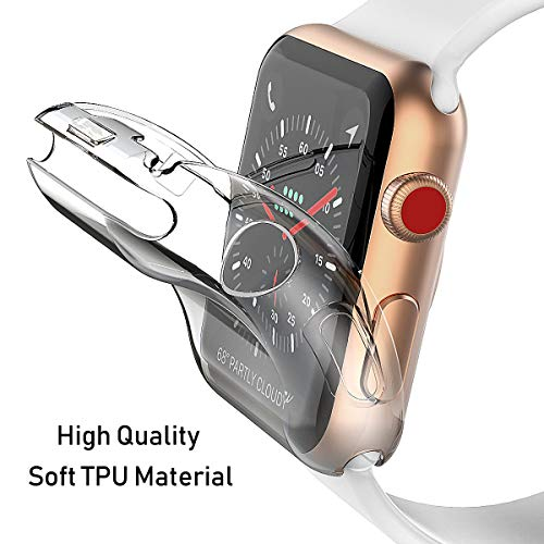 Julk Series 1 38mm Case for Apple Watch Screen Protector, iWatch Overall Protective Case TPU HD Clear Ultra-Thin Cover for Apple Watch Series 1 (38mm)