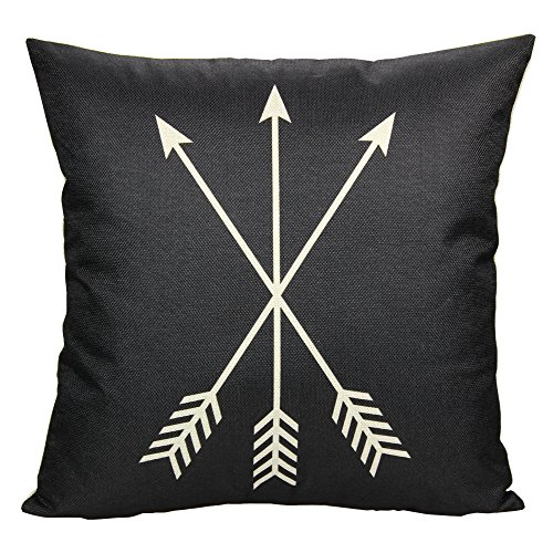 All Smiles Black Arrow Throw Pillow Case Cushion