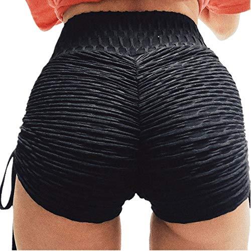 (Clearance Sale!FarJing Women Pants Summer Sports Shorts Gym Workout Waistband Skinny Yoga Short Pants(S,Black))