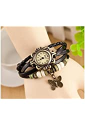 Domire Fashion Accessories Trial Order New Quartz Fashion Weave Wrap Around Leather Bracelet Lady Woman Butterfly Wrist Watch