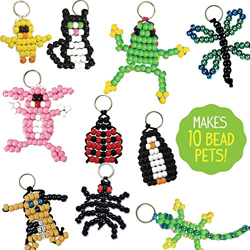Made By Me Create Your Own Bead Pets by Horizon Group Usa, Includes Over 600 Pony Beads, 6 Key Rings, Storage Box & Much…