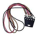 5x Cordón Trenzado Cuerda para Gafas Lentes Color Negro Marrón y Rosado