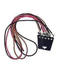 MagiDeal 5x Cordón Trenzado Cuerda para Gafas Lentes Color Negro Marrón y Rosado