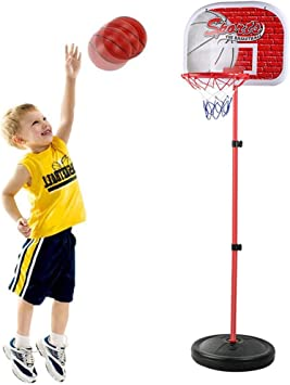 Portable Basketball Hoop Basketbal Outdoor Outdoor Sports Hardcore Basketball Frame Schieten Frame Children Can Lift Aijia Amazon Nl