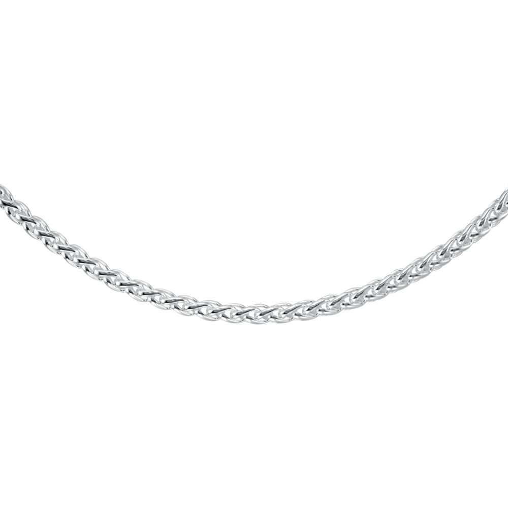 Jewels By Lux Ch266 925 Stamped Sterling Silver 16 In Wheat Chain With Lobster Clasp