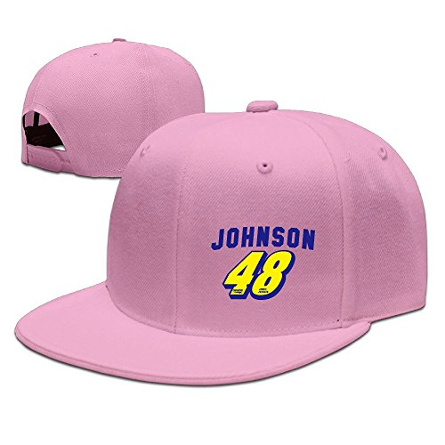 [KIYOMM Unisex 48 Logo Adjustable Snapback Hip-hop Baseball Hat/Cap Pink] (Jimmie Johnson Costume Nascar)