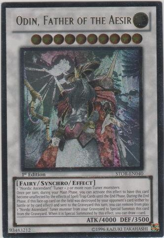 Yu-Gi-Oh! - Odin, Father of the Aesir (STOR-EN040) - Storm of Ragnarok - Unlimited Edition - Ultimate Rare