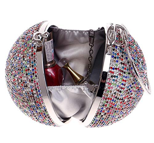 America A Dance Wedding Party Diamond Handbag Sphere Evening Bag Women's Rhinestone And For Europe RAqOv