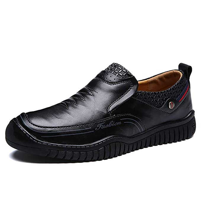 FHTD Mocasines De Cuero Para Hombres Zapatos De Guisantes Mocasines Y Slip-ONS Mocasines Para Botín Informal Zapatos: Amazon.es: Ropa y accesorios