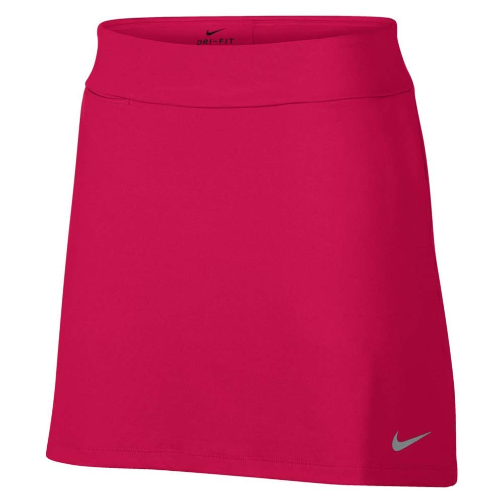 Nike Dri Fit Knit 16.5in Golf Skort 2018 Women Rush Pink/Flat Silver Small