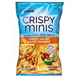 Quaker Crispy Minis Tortilla Style Cheesy Nacho Rice Chips, 100-Gram, 12-Count