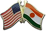 Our Niger friendship lapel pins are a great way to show support or show off your heritage. The pins are die-struck from a high quality steel alloy and feature a butterfly clasp in the back. The recessed colors allow for finer reproduction of details ...
