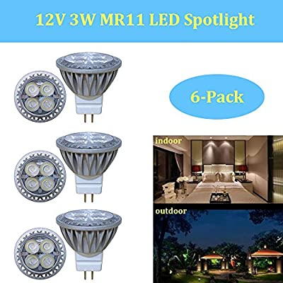 Makergroup Low Voltage Lighting 12VAC/DC MR11 Gu4.0 Bi-pin LED Bulb Lamp Spotlight 15W-35W Halogen Replacement for Indoor and Outdoor Landscape Lighting