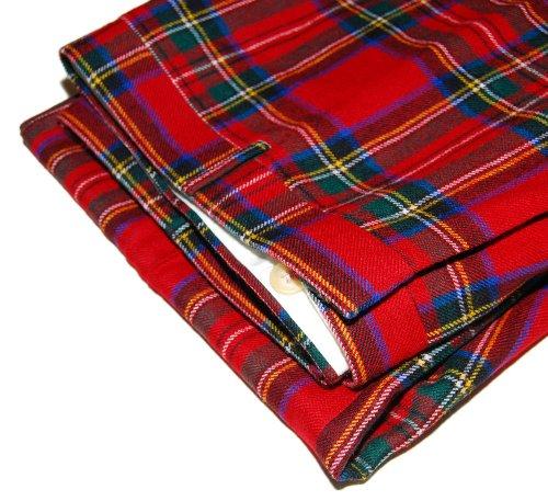 Polo Ralph Lauren Mens Virgin Wool Tartan Red Green Plaid Dress Pants Italy  32R at Amazon Men s Clothing store  237fbf5c43d0