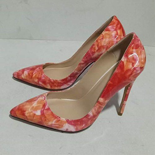 Size Beautiful Heels Pumps Fashion 34 VIVIOO Pink High 11 Fabric 9 Pointed 45 Cm Leather 5 Sandals Shoes Prom Toe wpt4q6