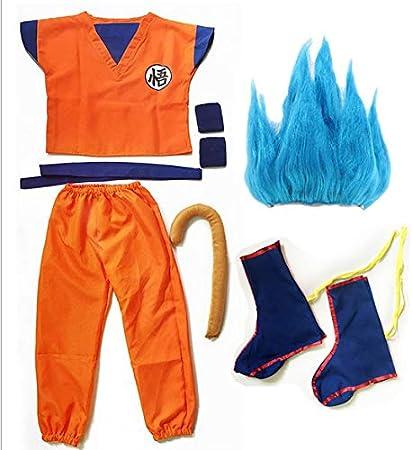 Dragon Ball z Goku Traje de Disfraz para Hijo Cosplay Disfraces para Adulto Niños Niños Niñas