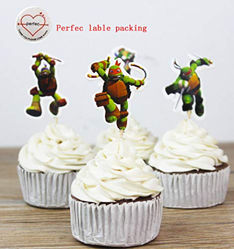 (Teenage Mutant Ninja Turtles Themed Cupcake Toppers Party Pack for 24)