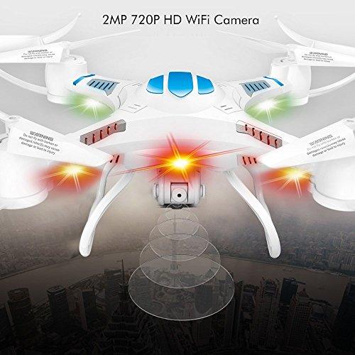 (D16-W) deAO WIFI FPV FONCTION 3D 4CH 2.4GHz 6 AXES Gyro RC DRONE QUADCOPTER avec APPAREIL PHOTO INTÉGRÉ HD 720P - RÉCEPTION D'IMAGE EN TEMPS RÉEL POUR LES SYSTÈMES IOS & ANDROID