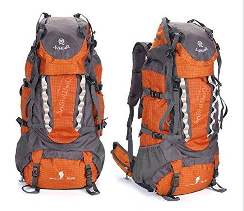 Pack mochila exterior nueva gran capacidad mochila al aire libre los hombres y las mujeres 80 litros escalada , orange Orange