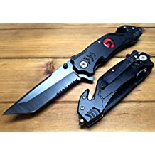 ThunderCats Spring Assisted Tactical Knife Custom Made SeatBelt Cutter Glass Breaker Sharp Hunting Outdoor