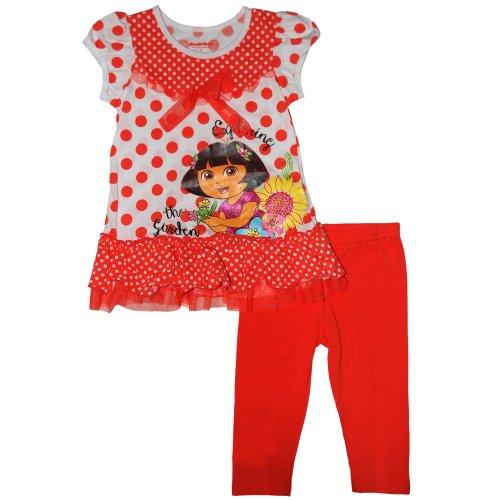 Nickelodeon Little Girls' Dora the Explorer Legging Set(Orange 6)