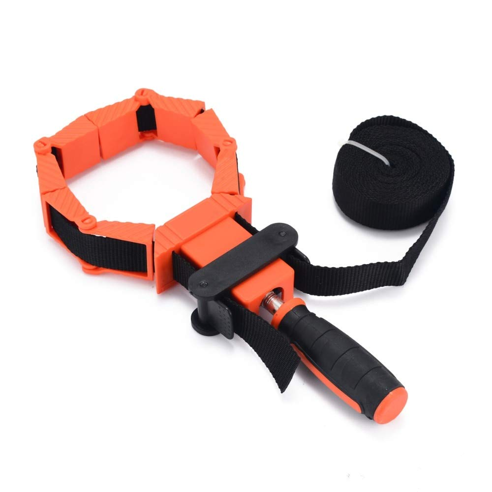 Yolopay - 4 Jaws Woodworking Picture Frame Band Strap Clamp Holder Miter Vise Ratchet Corner Clamp Band Photo Tools by Yolopay