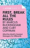 img - for A Joosr Guide to  First, Break All The Rules by Marcus Buckingham and Curt Coffman: What the World's Greatest Managers Do Differently book / textbook / text book