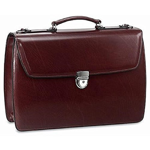 Jack Georges Elements Collection Flapover Laptop Briefcase (Burgundy)