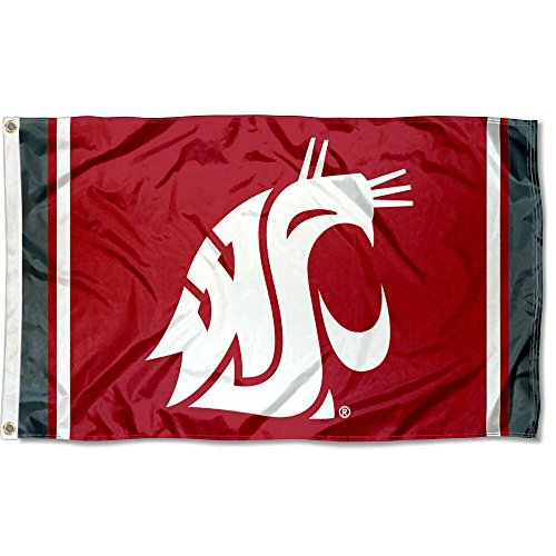 Washington State Cougars Jersey Stripes Flag (State Washington Jersey University)