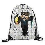 Nobee Ssundee YouTuber Information Drawstring Backpack Sack Bag Review