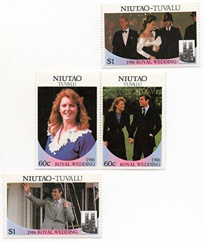 Niutao -Tuvalu 1986 Postage Stamp Set Royal Wedding Issue Prince Andrew & Sarah Ferguson MNH Scott #51 -52 ()