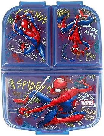   Porta merenda a 3 Scomparti per Bambini Kids Lunch Box Scatola Pranzo Marvel Spiderman