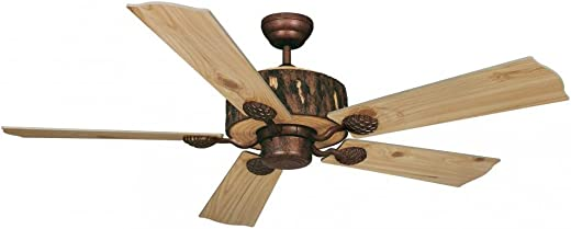 Vaxcel FN52265WP Log Cabin Ceiling Fan, 52 , Weathered Patina Finish