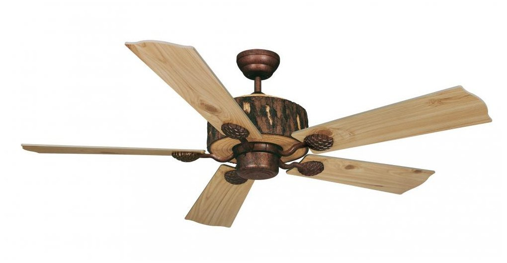 Vaxcel Fn52265wp Log Cabin Ceiling Fan 52 Weathered Patina Finish Fans Rustic Com