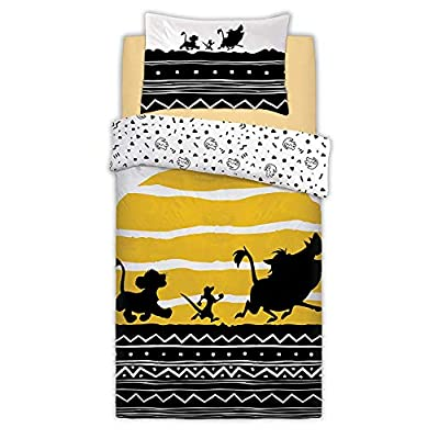 Disney The Lion King Tribal Sunrise Panel Single/Twin Bed Duvet Unfilled Quilt Cover Set: Home & Kitchen