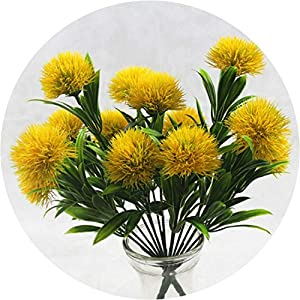 be-my-guest 1 Bouquet 7 Heads 5CM Dandelion Flowers Home Decorative 3 Colors PE Foam Artificial Flowers for Wedding Valentine's Day Decor 71