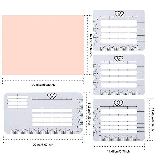 4 Pieces Envelope Addressing Guide Lettering Stencil Ruler and Templates Fits Wide Range of Envelopes for Writing, Making Thank You Card, Festival Cards, Wedding Invitations ()
