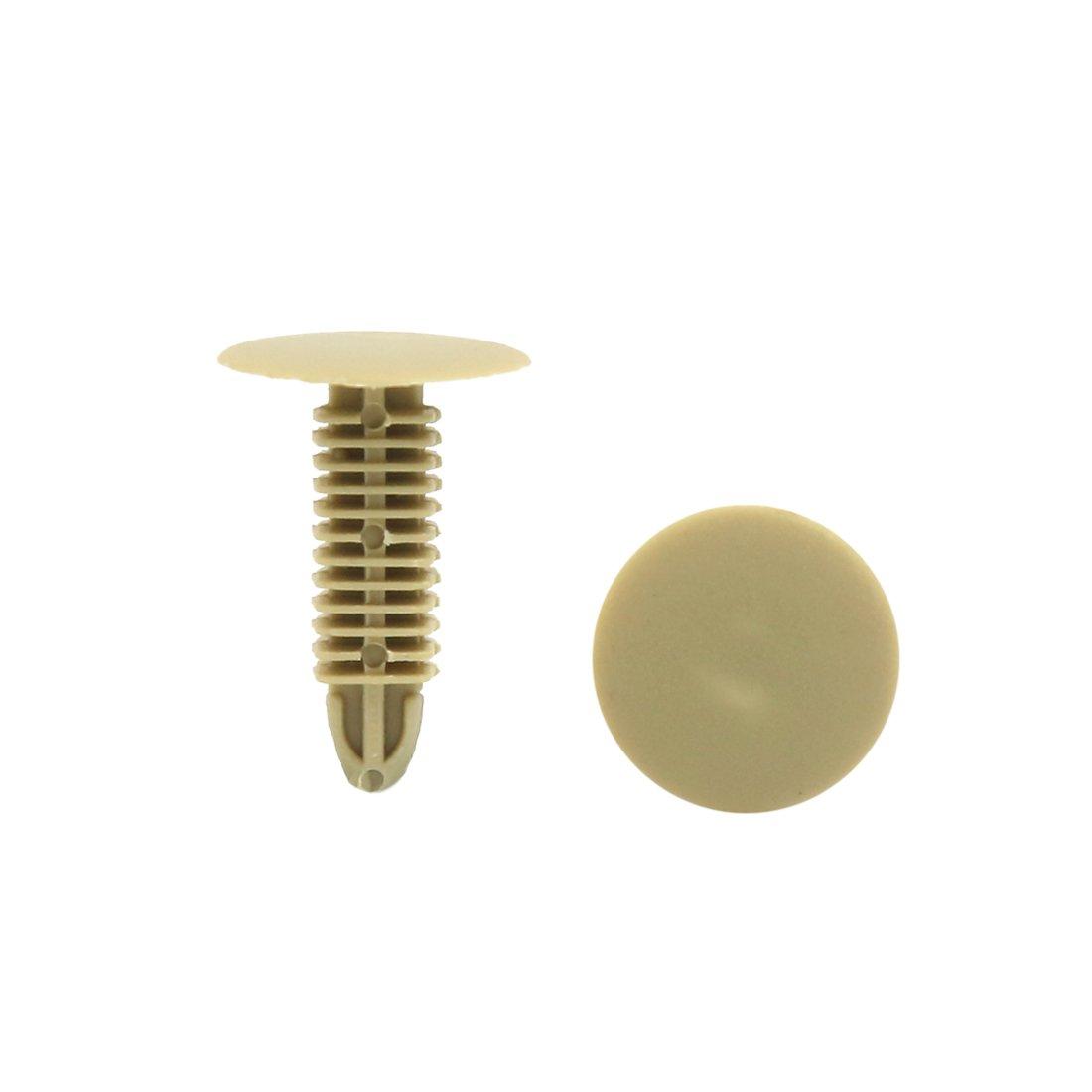 sourcingmap/® 20pz 8mm x 7mm foro Dia Rivetti di fissaggio in plastica Clip Per Auto Paraurti
