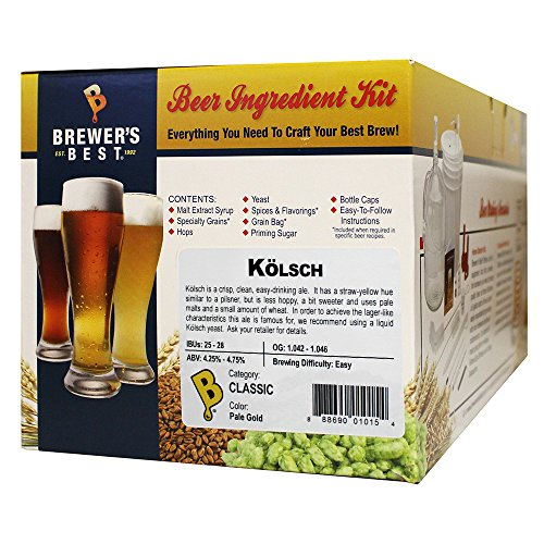 Brewer's Best - Home Brew Beer Ingredient Kit (5 gallon), (Kölsch) (Brewers Best Kolsch Review)
